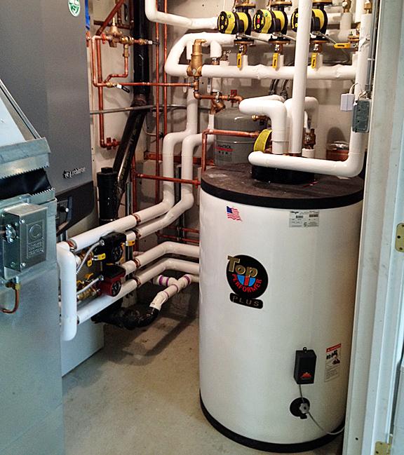 Urethane Foam Insulated Indirect Storage Water Heater Tank / in service